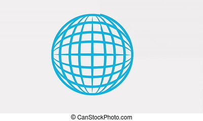 World and communication icon  design, Video Animation HD1080