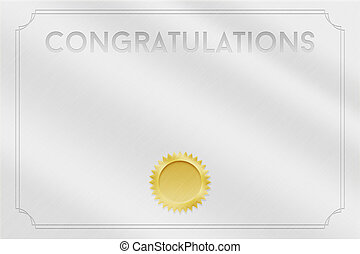 Blank Certificate Backdrop