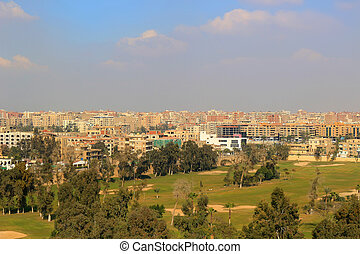 Golf course in Cairo Egypt - View of golf course and...