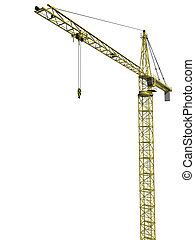 Isolated Tower Crane