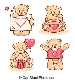 valentine teddy bears collection 2 - Beautiful cartoon...