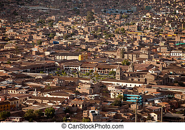 Aerial Photo Of The City Of Ayacucho, Peru