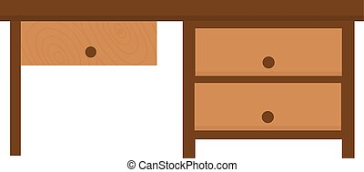 Wood table furniture illustration - Wood table furniture...