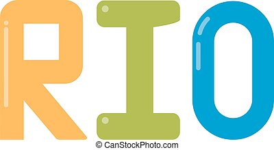 Rio logo vector illustration