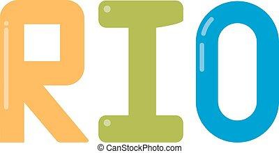 Rio   - Rio logo vector illustration.