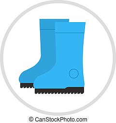 Insulated boots, shoes, cartoon, illustration Insulated...