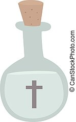 Magic elixir isolated on a white background. Full bottle...