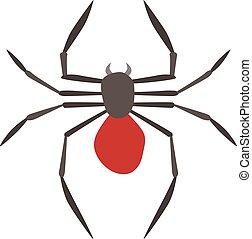 Spider illustration. Black Widow. - Spider illustration....