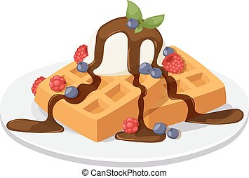 Belgium waffles Clipart Vector and Illustration. 63 ...