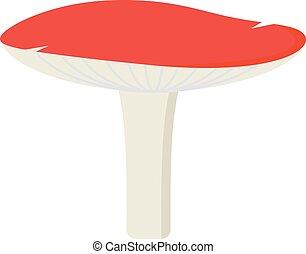 Amanita poisonous mushroom, isolated on white background -...