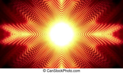 Red Lattice Looping Chaos Animated Background