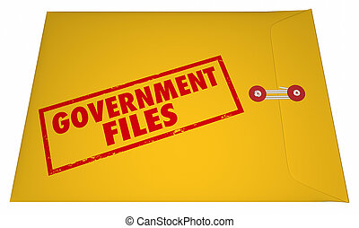 Government Files Records Sealed Classified Confidential...
