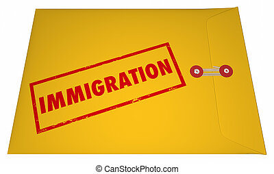 Immigration Files Documents Application Envelope Stamped...