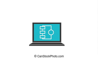 Data center and security icon design, Video Animation HD1080