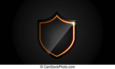 Shield icon design, video animation HD1080