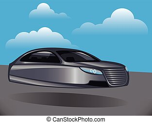 Hover Car vector