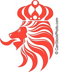 Lion Crown vector