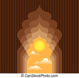 Passage to the Sun vector