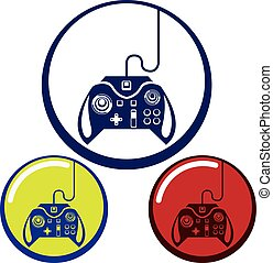 Unique Game Controller Icon Art
