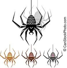 Color Spider Art