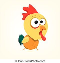 Cartoon Rooster - cartoon of a cute rooster