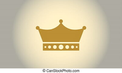 crown icon design, Video Animation HD1080