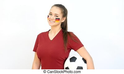 Soccer Female with German Flag