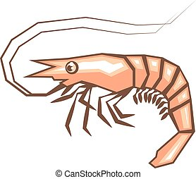 Stylized shrimp