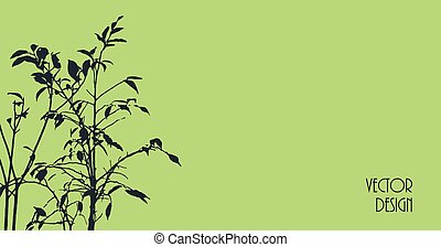 Plant silhouette background