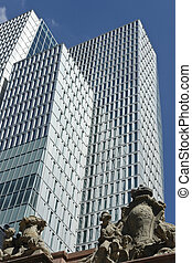 Ancient and modern, Frankfurt am Main - Street view of the...
