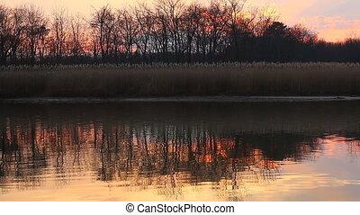 Swamp area at pranburi sunset befor - Swamp area at pranburi...