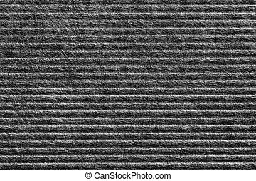 Black color corrugated paper texture - Close up black color...