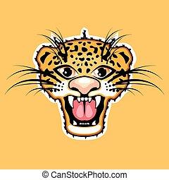 Leopardo, caricatura, onça pintada,