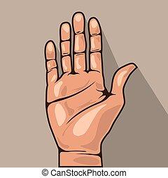 Open hand   - Open hand
