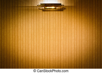 Cloth wall with lamp