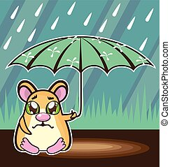 Homeless Hamster cartoon
