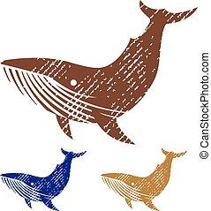 Grunge Whale