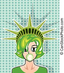 Miss America  cartoon - Miss America cartoon