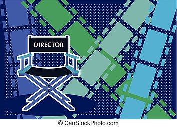 Directors chair Film vector