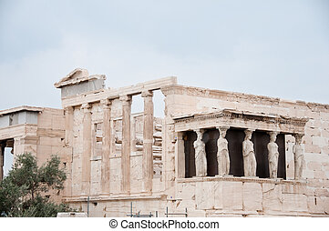 Greek Ruins in Athens greece temple with pilars