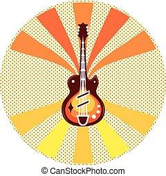 Guitar Pop Art