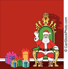 Santa Claus in his chair
