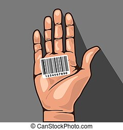 Hand with Barcode