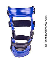 Blue rigged knee brace -