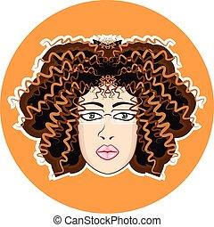Lady Fuzzy Curls