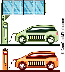 Solar Charging Station Electric Vehicle