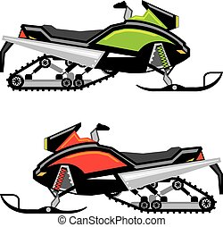 Snowmobile vector