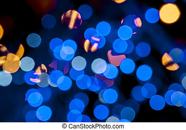 Abstract colorful blur de focused background black, soft...