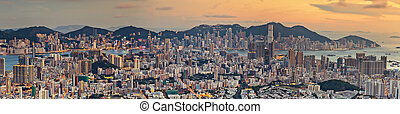 Lion rock view point, Hong kong city