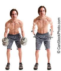 Triceps Kickback Exercise - Triceps kickback exercise....